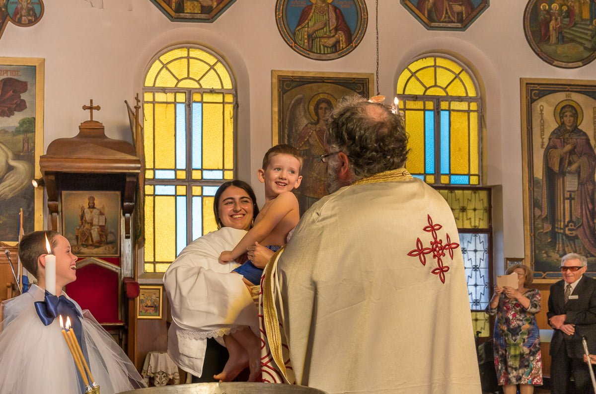 Greek Orthodox christening in Paddington